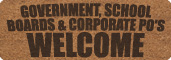 Government, School Boards, Corporate PO's Welcome