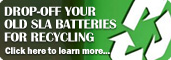 Drop-Off Your Old SLA Batteries From Recycling